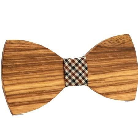houten vlinderdasje
